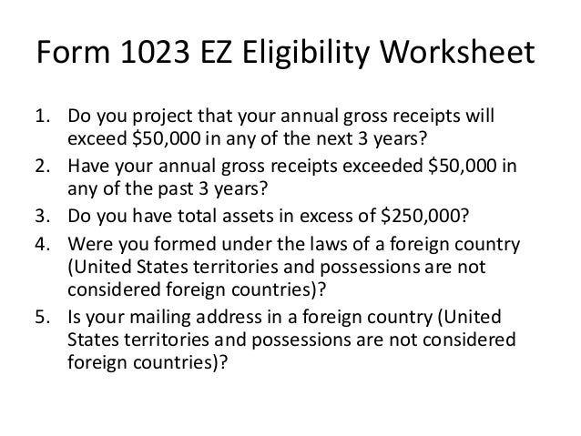 Changes to Federal Tax Exemption Process jo – Ez Worksheet
