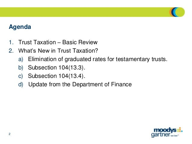 Many Tax Benefits Restricted to Graduated Rate Estates