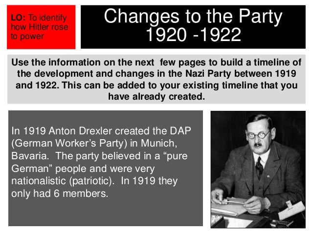 an analysis of dap formed by anton drexler in 1919 Equally troubling, michael burleigh's the third reich: a new history ( hill & wang, 2000 ), with 812 pages of excellent narrative and analysis, and 150 pages of notes and indexing, gives the thule society only one reference that reference being the fact that some of their members were massacred in april of 1919.