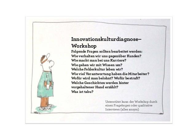 Networking Innovationskulturdiagnose– Workshop Folgende Fragen sollten bearbeitet werden: Wie verhalten wir uns gegenüber ...