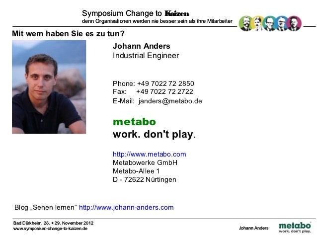 Change to Kaizen 29.11.2012 Slide 2