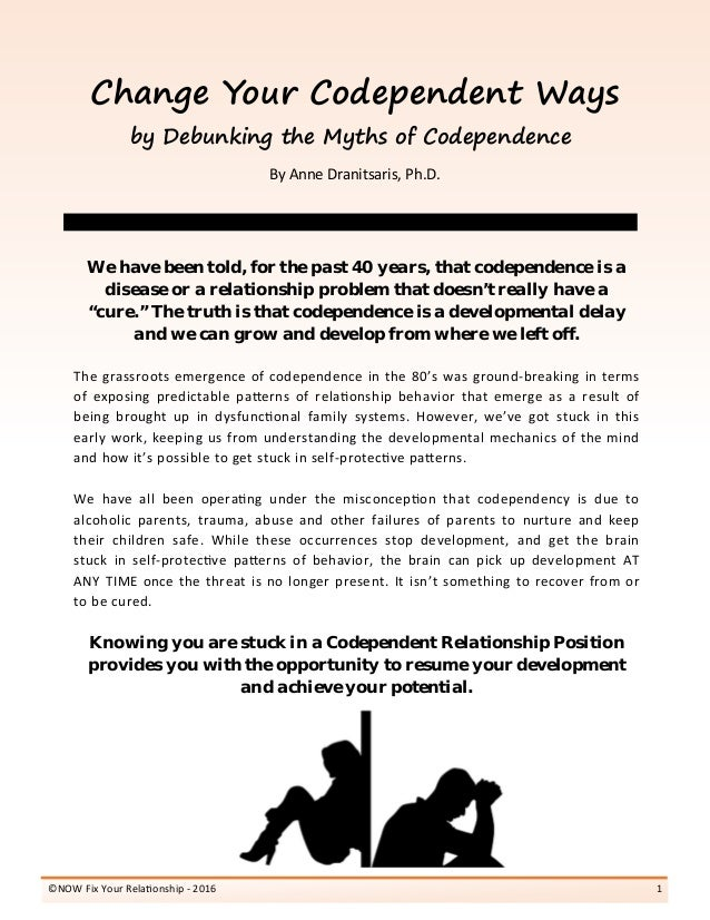 Change your Codependent Ways