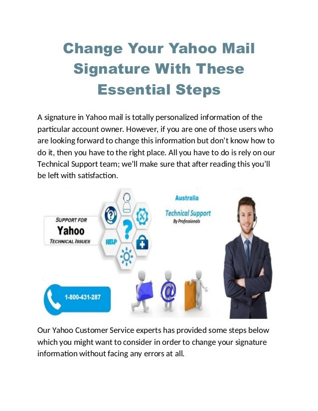Change your yahoo mail signature with these essential steps