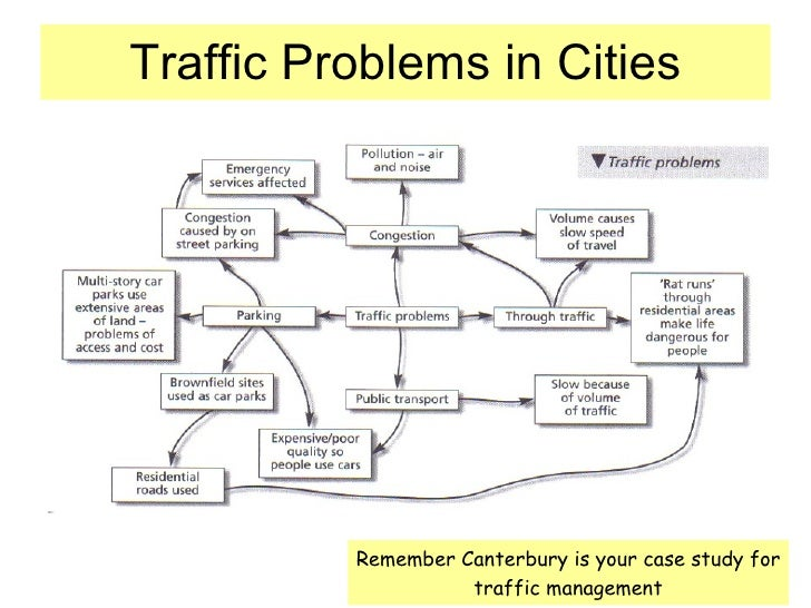 traffic problems in city centres Search the bbc search the  and the movement of populations back to city centres  i would compare it with a target in the traffic safety domain that was imposed.