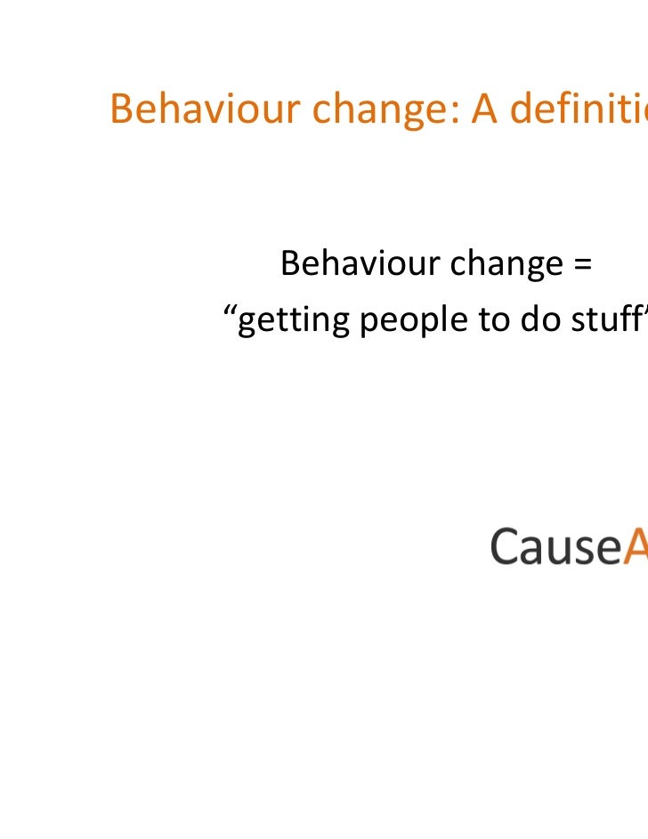 enable individuals with behavioural difficulties to develop strategies to change their behaviour Our approach to communications, from strategy development through  communications and behaviour change  while behavioural models and economics  people on their .