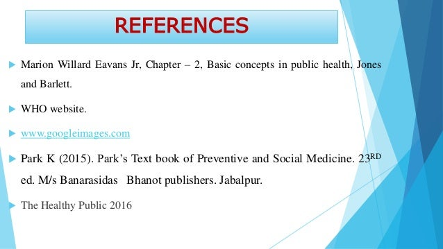 Changing concepts in public health