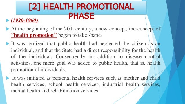  Public health nursing was a direct offshoot of this concept. Public health departments began expanding their programs to...