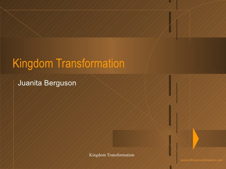 Kingdom Transformation Juanita Berguson