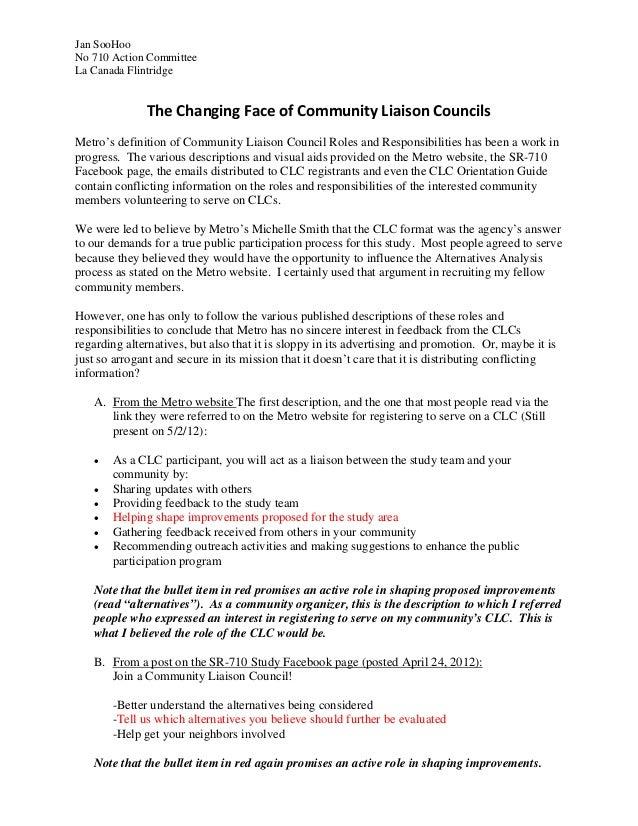Jan SooHooNo 710 Action CommitteeLa Canada Flintridge              TheChangingFaceofCommunityLiaisonCouncilsMetro'...