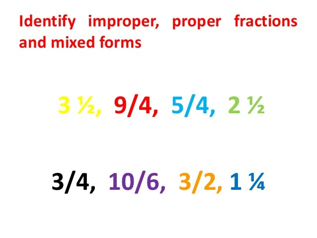 write as an improper fraction