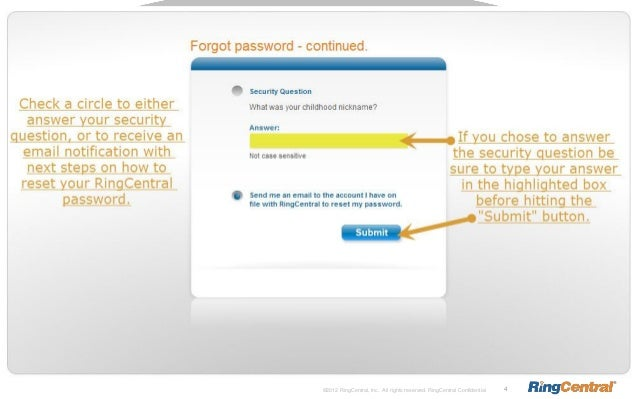 How To Change Your RingCentral Account Password