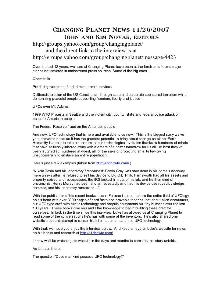 Changing Planet News 11/26/2007              John and Kim Novak, editorshttp://groups.yahoo.com/group/changingplanet/     ...