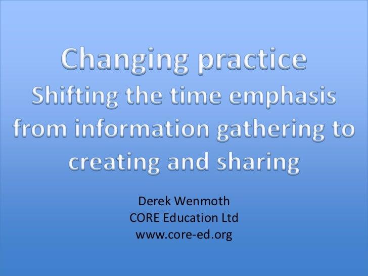 Derek WenmothCORE Education Ltd www.core-ed.org