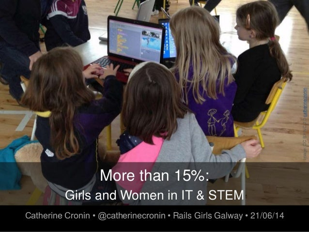 More than 15%: Girls and Women in IT & STEM Catherine Cronin • @catherinecronin • Rails Girls Galway • 21/06/14 Image:CCBY...