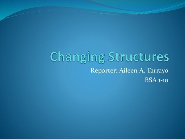 Reporter: Aileen A. Tarrayo  BSA 1-10