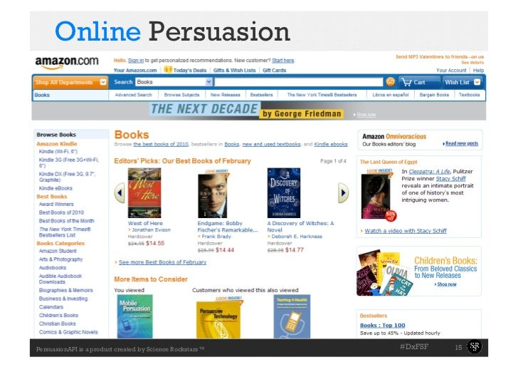 Online Persuasion                                                           #DxFSF   15PersuasionAPI is a product created...