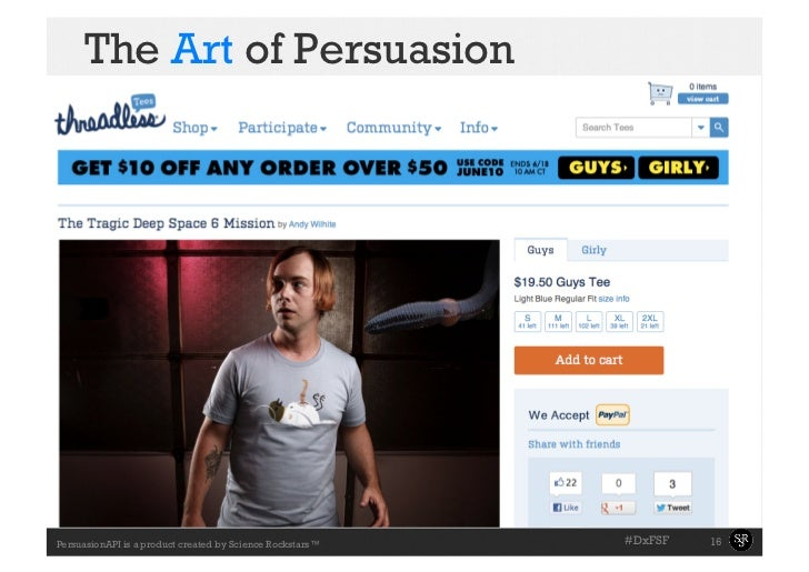 The Art of Persuasion                                                           #DxFSF   16PersuasionAPI is a product cre...