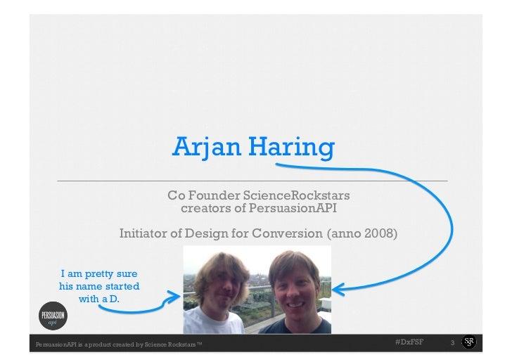 Arjan Haring                                            Co Founder ScienceRockstars                                       ...