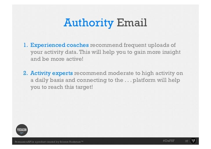 Authority Email     •Slide with coaches recommend frequent uploads of     1. Experienced the       towell example will h...