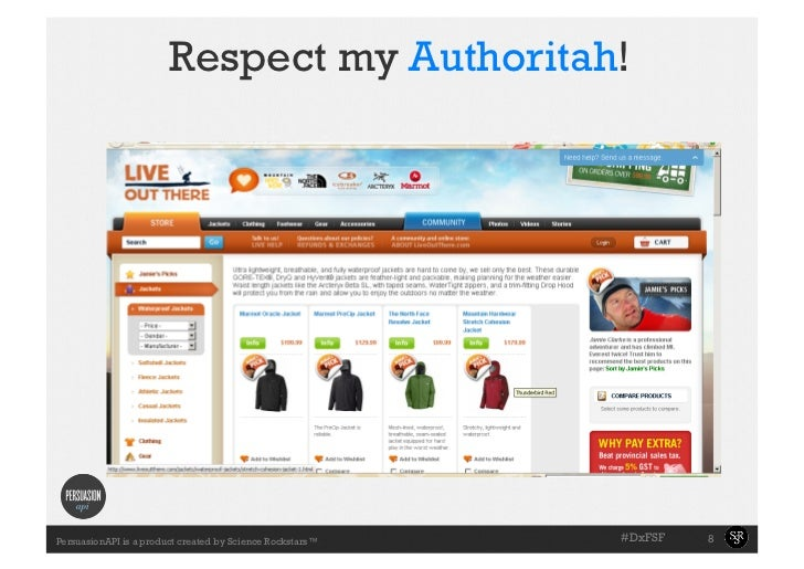 Respect my Authoritah!                                                           #DxFSF   8PersuasionAPI is a product cre...