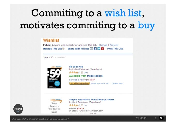 Commiting to a wish list,       motivates commiting to a buy                                                           #Dx...