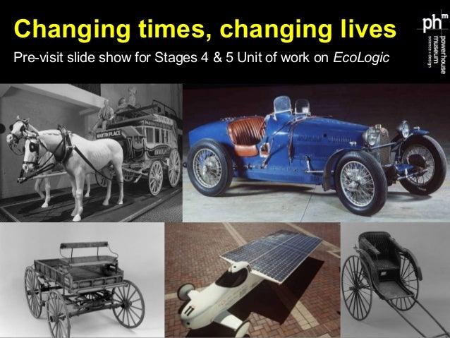 Changing times, changing lives Pre-visit slide show for Stages 4 & 5 Unit of work on EcoLogic