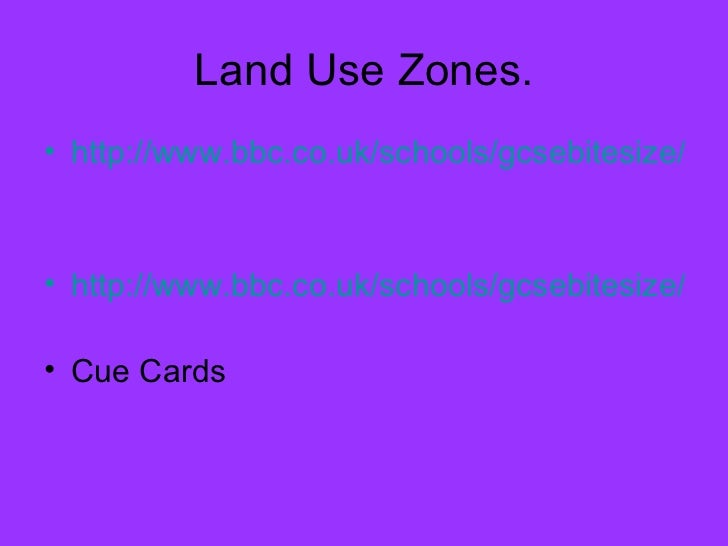 Changing urban environments revision urbanisation and land use Slide 3