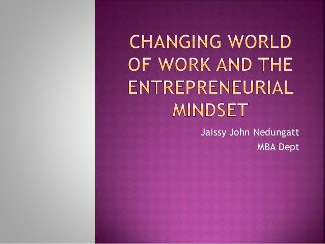 Jaissy John Nedungatt MBA Dept