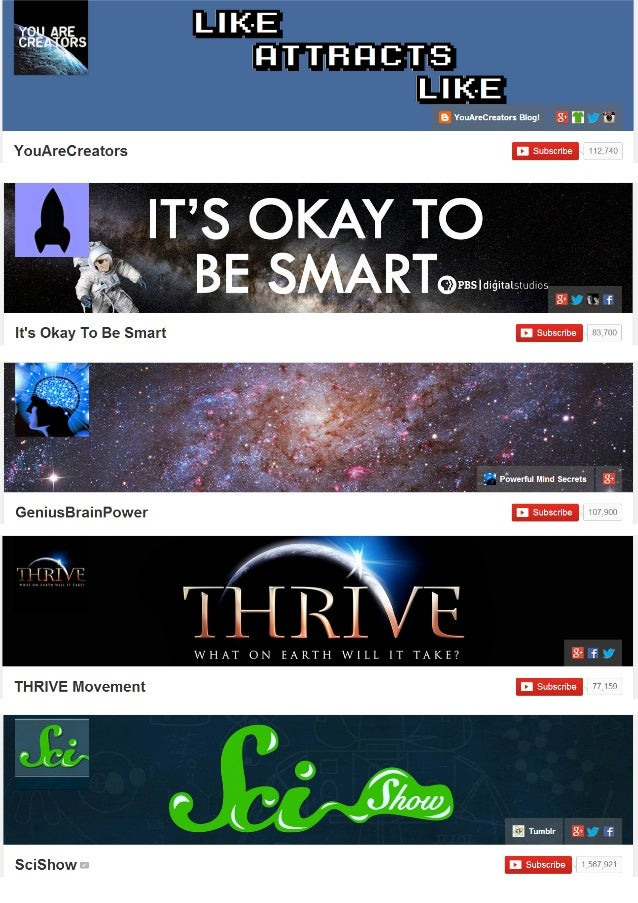 80 Nicely designed YouTuhe Channel Art Examples Slide 3