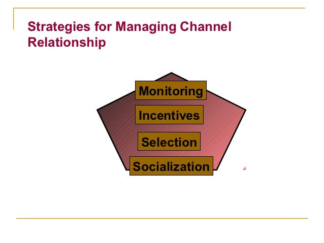 Strategies for Managing ChannelRelationship                Monitoring                Incentives                 Selection ...