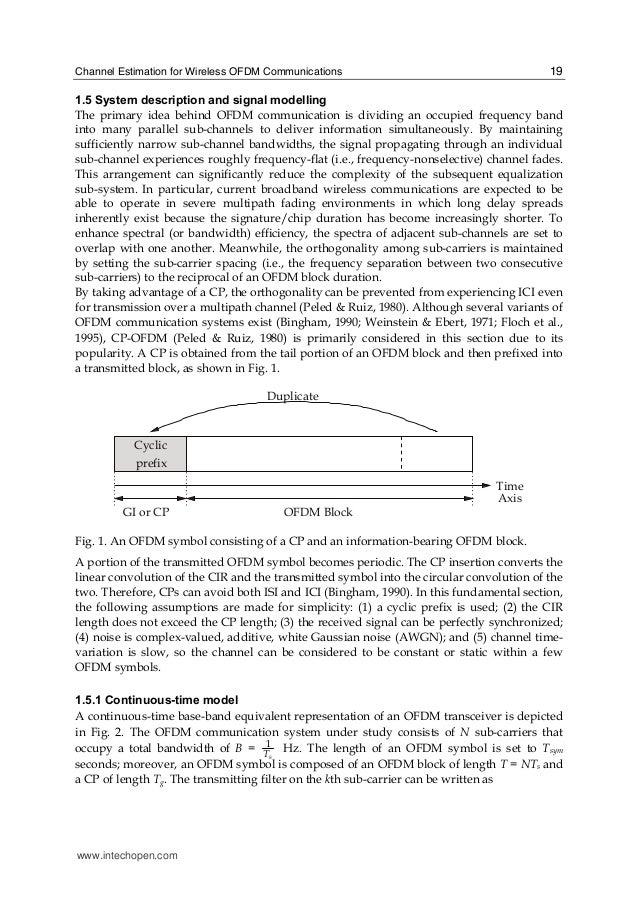 ofdm channel estimation International journal of engineering technology and scientific innovation volume:01,issue:01 wwwijetsiorg wwwijetsiorg page 14 channel estimation and synchronization for.