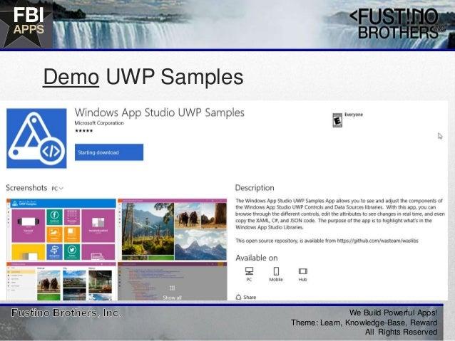 Uwp Samples