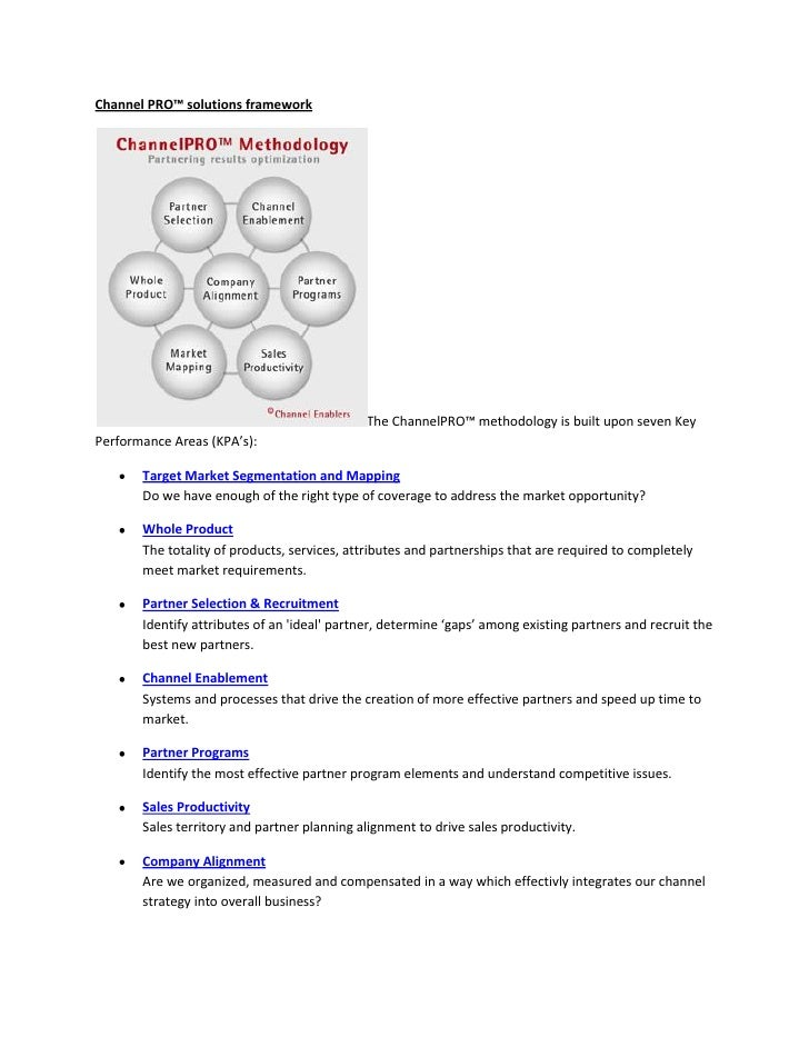 Channel PRO™ solutions framework                                                  The ChannelPRO™ methodology is built upo...