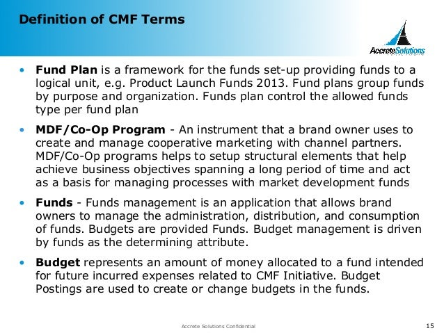 Channel Marketing Fund Overview Mdf Co Op