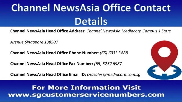 Channel NewsAsia Office Address, Phone Number, Email ID, Website
