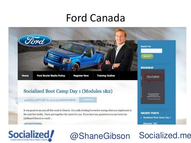 Ford Canada@ShaneGibson   Socialized.me