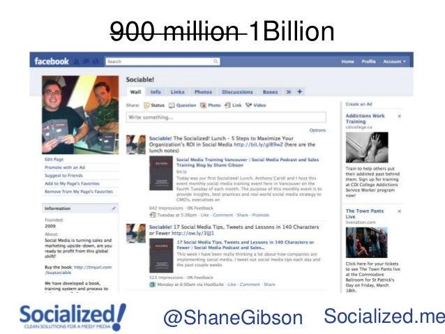 900 million 1Billion    @ShaneGibson   Socialized.me