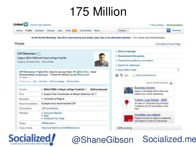 175 Million@ShaneGibson   Socialized.me