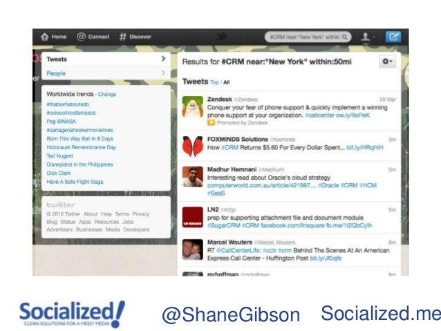 @ShaneGibson   Socialized.me