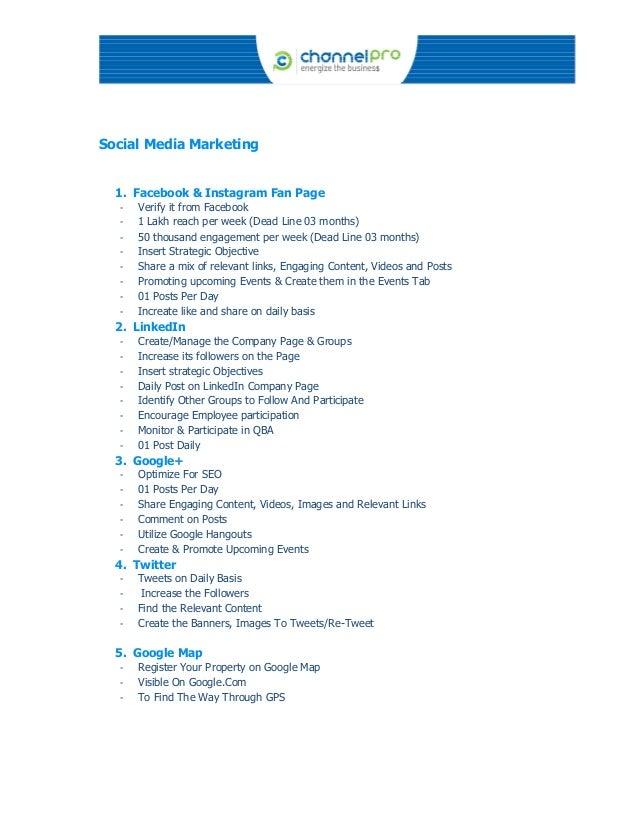 ChannelPro Communications Online Marketing Proposal