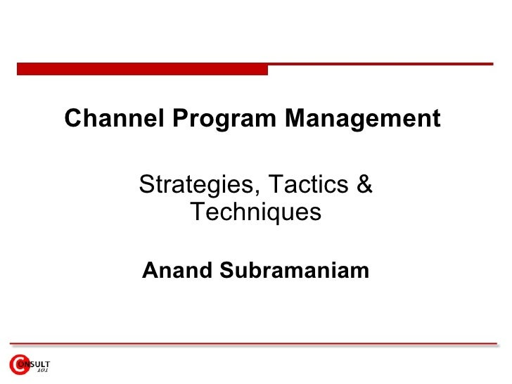 channel program