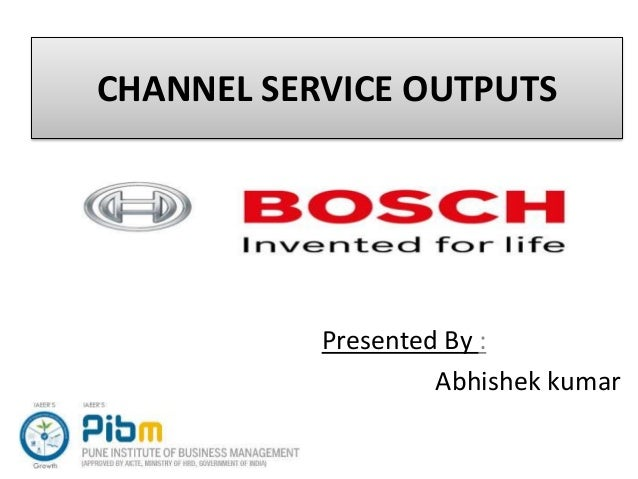 CHANNEL SERVICE OUTPUTS Presented By : Abhishek kumar