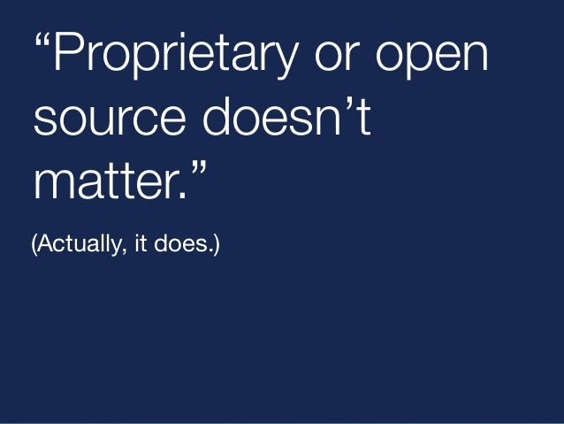 """Open source  licenses  put me  in control:  """"You've got to  own the bricks.""""  Yours?"""