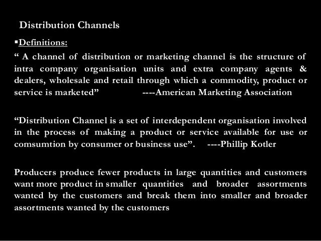 Channels of distribution ppt.