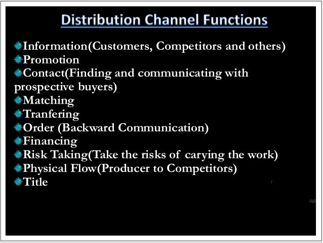 distribution channel 2 Importance of distribution if you build it, people won't necessarily come choosing the right distribution channels is just as important for selling products as setting your price correctly or creating catchy advertising.