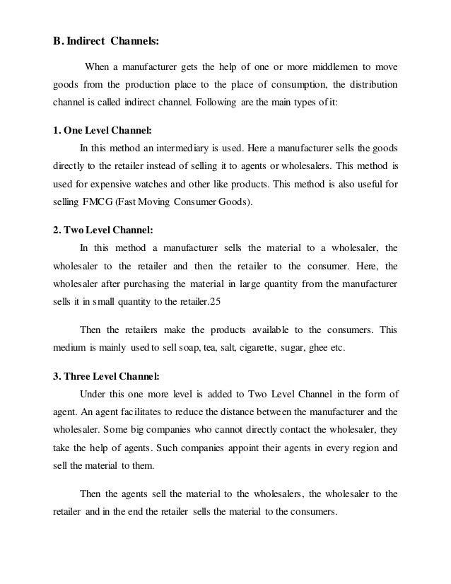 Channels of distribution of blue star om patil(23) (1)