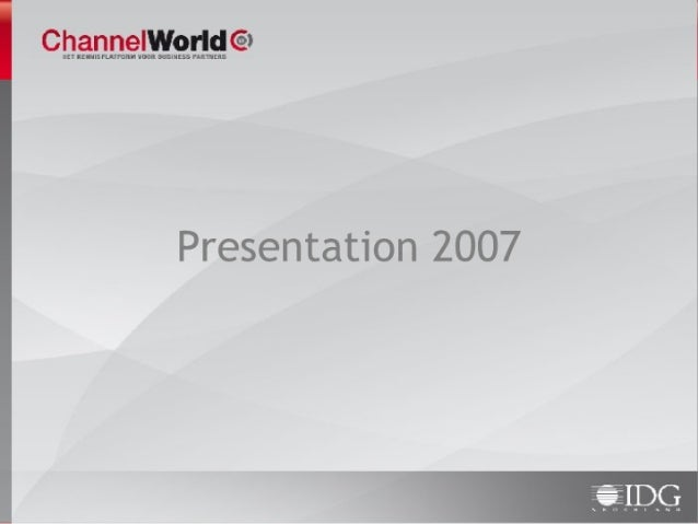 ChannelWorld English presentation