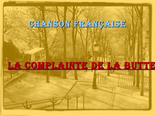 Chanson Française  La CompLainte de La butte