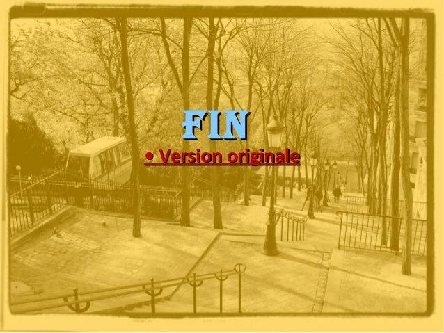 Fin  • Version originale
