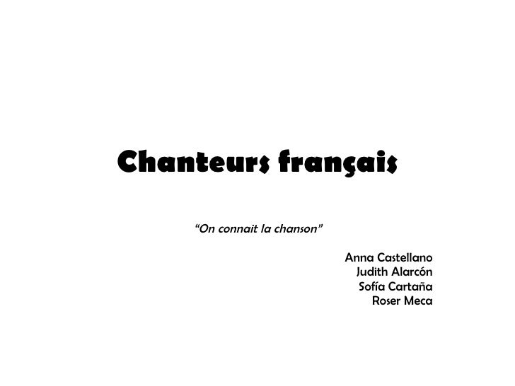 """Chanteurs français """" On connait la chanson"""" Anna Castellano Judith Alarcón Sofía Cartaña Roser Meca"""